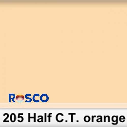 Rosco 205S Pliego 1/2 C.T.Orange 50cm x 60 cm