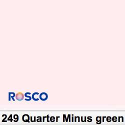 Rosco Rollo 249R Quarter Minus Green 1,22 x 7,62 mts