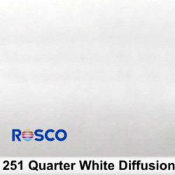 Rosco 251R Rollo 1/4 White Diffusion  1,22 x 7,62 mts