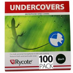 Rycote Undercovers 100-pack Negros Paraviento lijero para micrófonos Lavalier
