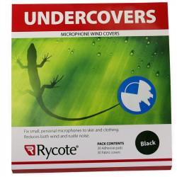 Rycote Undercovers Negros Paraviento lijero para micrófonos Lavalier con 30 stickies Negro