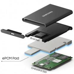 Samsung T7 Rojo SSD 500GB Portable USB 3.2 Gen 2