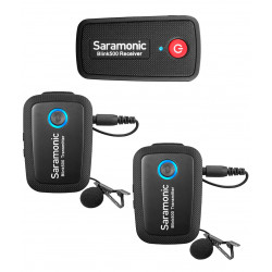 Saramonic Blink 500 B2 Sistema de 2 Micrófonos Lavalier inalámbricos para DSLR