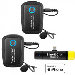 Saramonic Blink 500 B4 Sistema de 2 micrófonos Lavalier inalámbricos para Lightning iOS