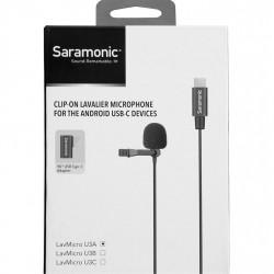 Saramonic LavMicro U3A  Micrófono lavalier con cable USB-C