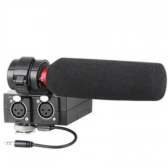 Saramonic MixMic Shotgun con mixer 2 canales XLR para cámaras DSLR y video