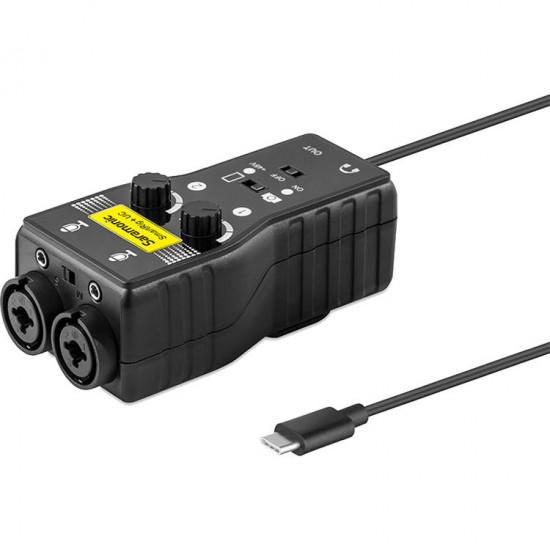 Saramonic SmartRig+UC Interface de audio 2 XLR para dispositivos USB tipo C