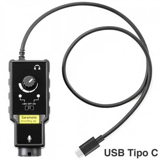 Saramonic SmartRig UC Interface de audio XLR para dispositivos USB tipo C