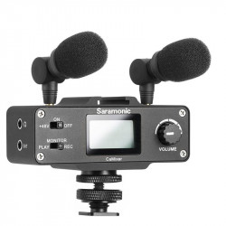 Saramonic CAMixer Kit de audio Dual Mic para cámaras DSLR y video