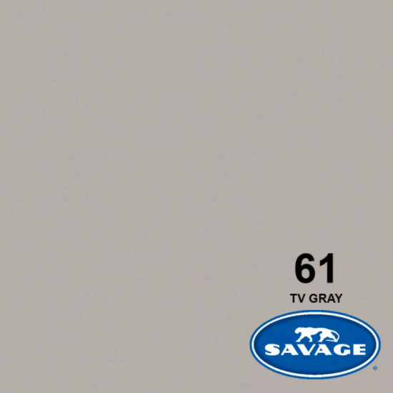 "Savage Fondo de Papel ""TV Gray"" Gris TV para backdrop de 2,72  x 11 mts SAV-61"