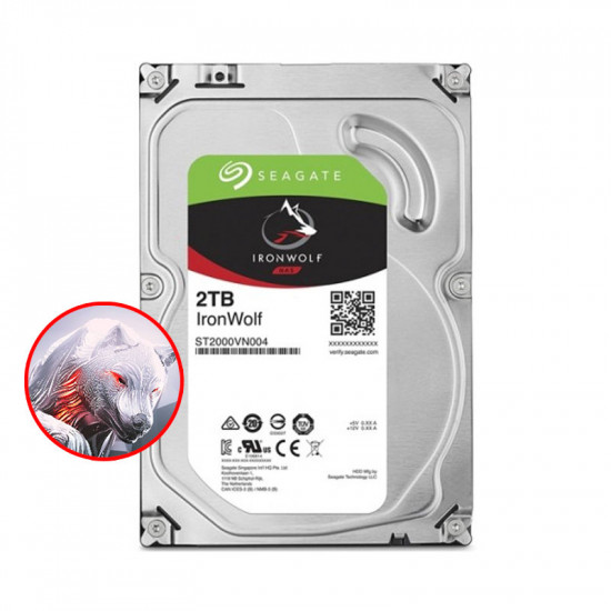 "Seagate IronWolf 2TB Disco Duro 3.5"" 5900RPM SATA3 64MB NAS"