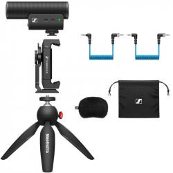 Sennheiser Kit Movil MKE 400 Micrófono Ultracompacto para cámara o smartphone