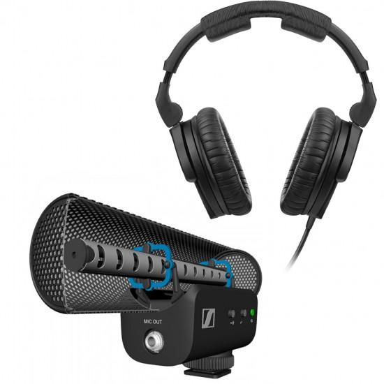 Sennheiser MKE 400 Shotgun en pack con audífonos HD280