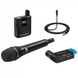 Sennheiser AVX-COMBO SET Sistema Micrófono Inalámbrico Lavalier ME2 (balita)  + Mic de Mano MD42 AVX