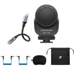 Sennheiser MKE 200 Mic Ultracompacto para cámara o smartphone y adapter para Lighting