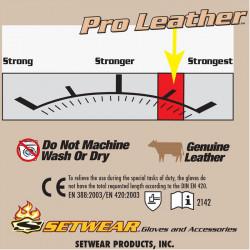 Setwear SWP-09-011 Pro Leather Guantes de trabajo Talla X-large