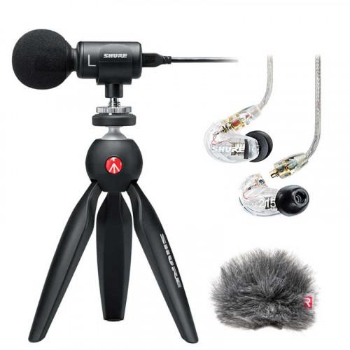 Shure MV88 + SE215-CL  Kit de audio para Smartphones