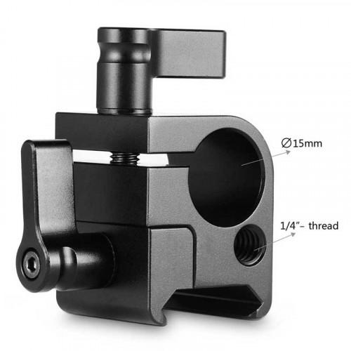 SmallRig 1254 Rod Clamp (15mm) con agarre a NATO