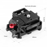 SmallRig 2266 Base Pocket 4K con plate 501 para rods 15mm