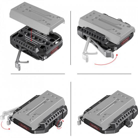 SmallRig 2887 Plate Receptor Drop-In compatible con 501 Manfrotto