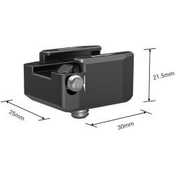 SmallRig 2935 Adaptador de montaje de zapata fría con rotación 360 (cold shoe)