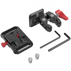 SmallRig 2989 Mini Plate de agarre para V-Lock / V-Mount con clamp
