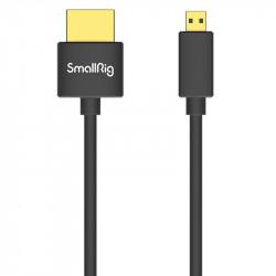 SmallRig 3042 Ultra delgado Cable Micro HDMI a HDMI 4K@60 corto de 35cm