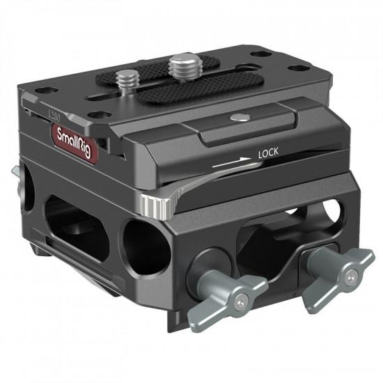 SmallRig 3067 Placa Magnesio con Sistema de soporte de rieles Rods de 15 mm