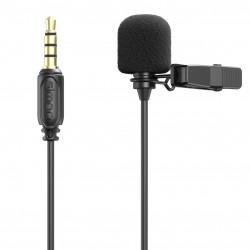 SmallRig 3388 Micrófono Lavalier para Cámaras, SmartPhones y Tablets