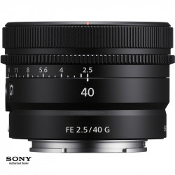Sony SEL40F25G Lente Compact Prime FE 40 mm F/2.5 G