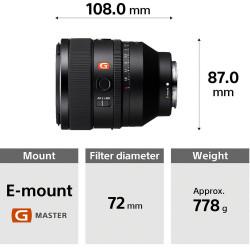 Sony SEL50F12GM Lente Prime 50mm G Master F1.2
