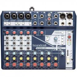 Soundcraft Notepad-12FX Consola Compacta de Audio de 12 Canales / 4 Mic + 6 Linea 1/4 + 2 RCA con E / S USB