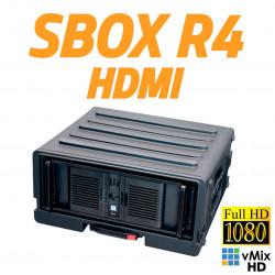 StreamBox R4 HDMI - Equipo Rackeable para Streaming con 4 entradas HDMI hasta 1080p con licencia vMix HD en Maleta SKB con ruedas y tirador