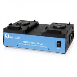 Switronix Cargador Doble para Lithium, NiCd y  NiMH montura V Lock