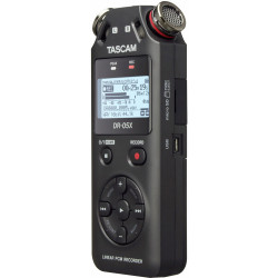 Tascam DR-05x Grabador de audio Portátil de 2 entradas / 2 pistas con micrófono estéreo integrado