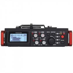 Tascam DR-701D Grabador Portátil 6 canales para DSLR (4 XLR + stereo mini-jack)