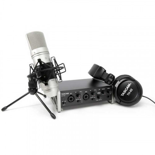 Tascam KIT Podcast US2x2 Interfaz + Mic Studio TM-80 y audífonos