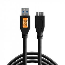 Tether Tools CU5404BLK Cable Corto USB 3.0 A Male a Micro-B de 30cm