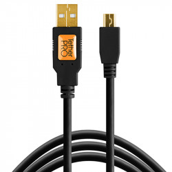 Tether Tools CU5406 Cable USB 2.0 A Male a Mini-B 5-Pin de 1.80mts  Negro