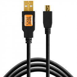 Tether Tools CU5450 Cable USB 2.0 a Mini-B 5-Pin de 4.60mts negro