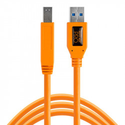 Tether Tools CU5460ORG Cable USB 3.0 A Male a Male B de 4.60mts