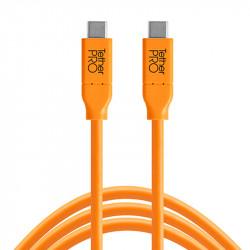 Tether Tools CUC03ORG Cable USB-C a USB-C de 90 cm (color naranja)