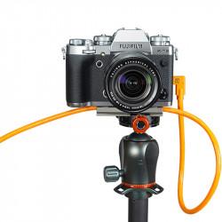 Tether Tools CUC15RT-ORG Cable USB-C a USB-C de 4.6mts en L