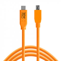 Tether Tools CUC2515-ORG Cable USB -C Male a Micro-B 5-Pin de 4.60mts