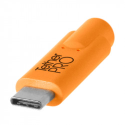 Tether Tools CUC3315ORG Cable USB-C a USB Micro B de 4.6mts