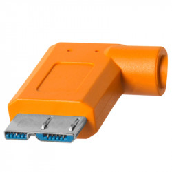 Tether Tools CUC33R15ORG Cable USB-C a USB Micro B en 90grados  de 4.6mts