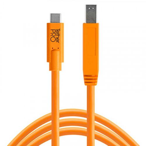 Tether Tools CUC3415-ORG Cable USB-C a Male B de 4.60mts