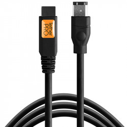 Tether Tools FW84BLK Cable FireWire 800/400 9 a 6 Pin Cable de 4.60mts