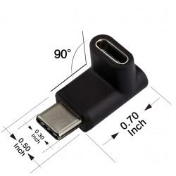 Adaptador de USB-C en ángulo 90 grados Up&Down
