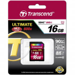 Transcend SDHC Ultimate 16GB Class 10 UHS-1 Lectura 90MB/s